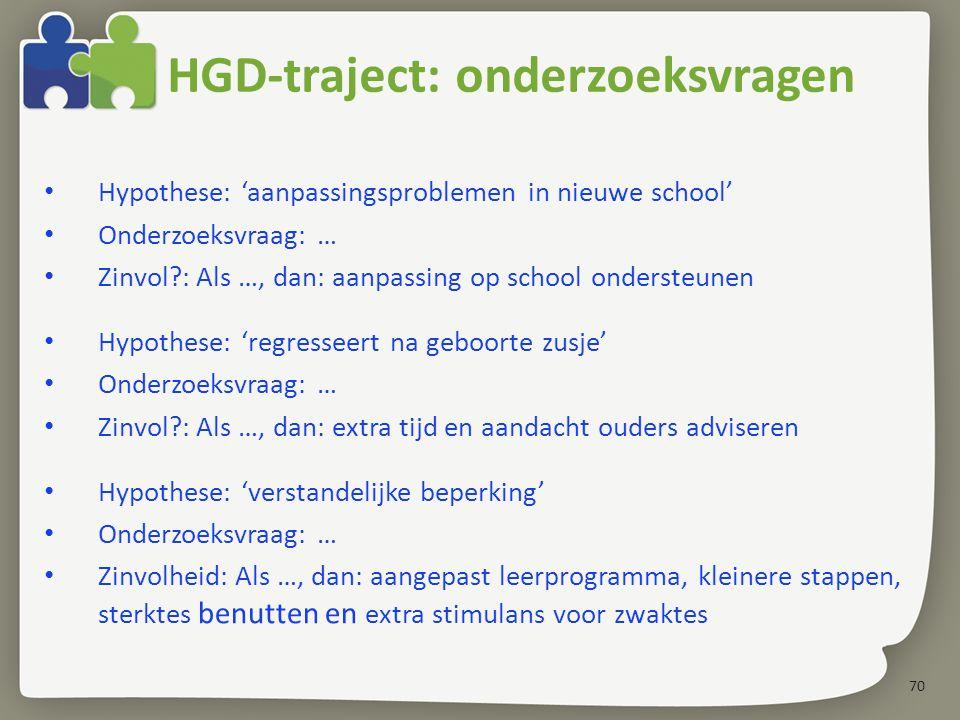 HGD-traject: onderzoeksvragen