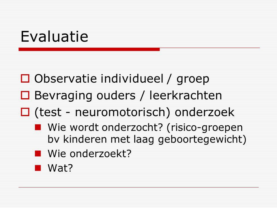 Evaluatie Observatie individueel / groep