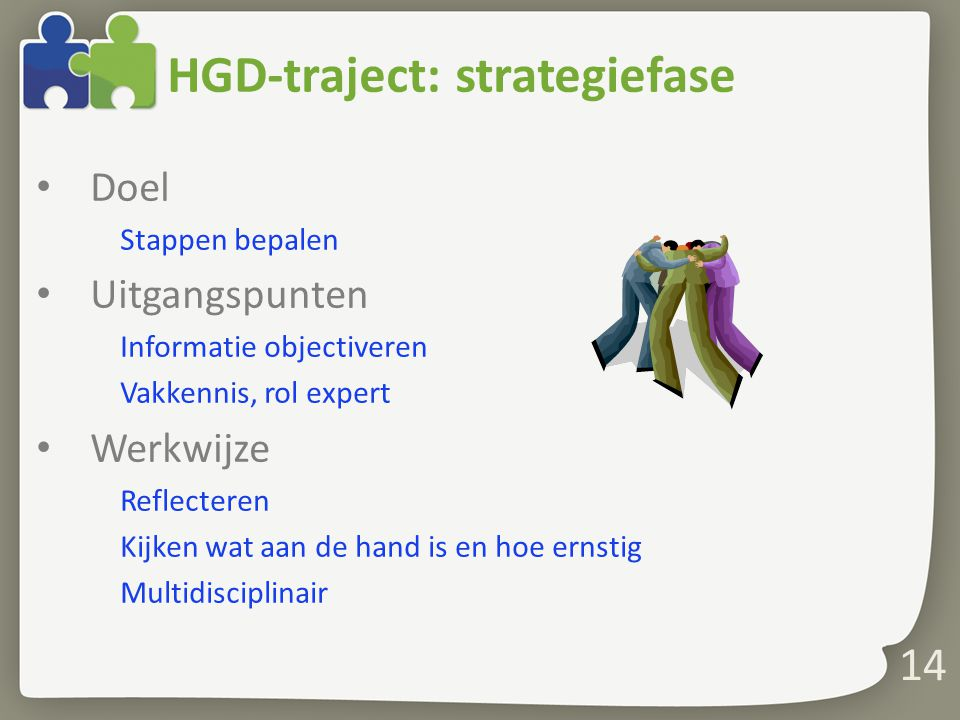 HGD-traject: strategiefase