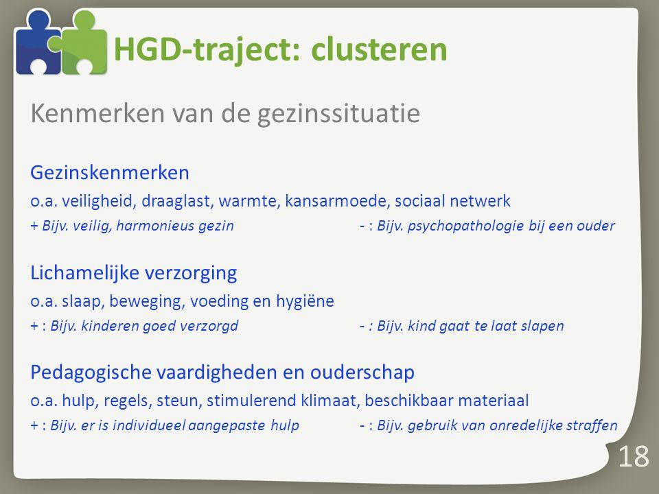HGD-traject: clusteren