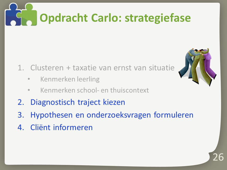 Opdracht Carlo: strategiefase