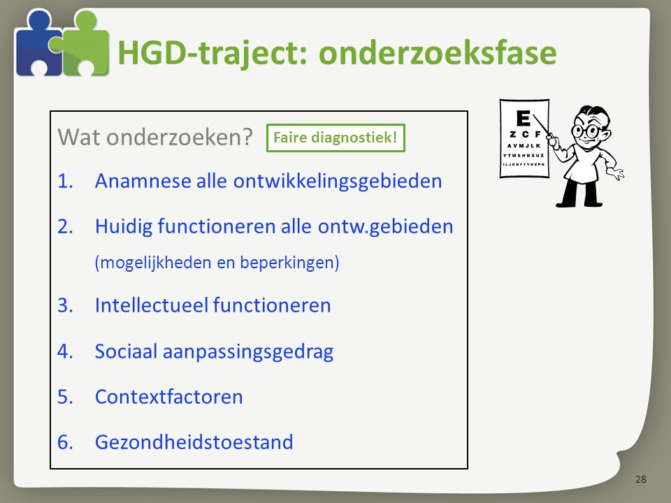 HGD-traject: onderzoeksfase