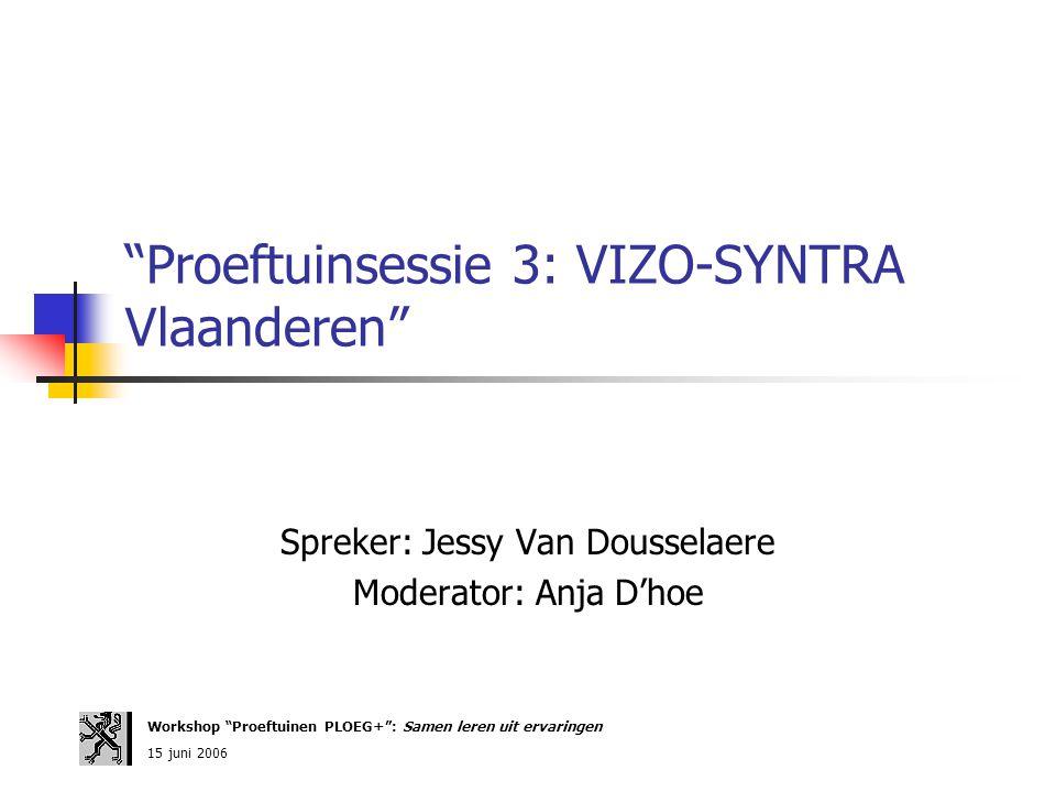 Proeftuinsessie 3: VIZO-SYNTRA Vlaanderen