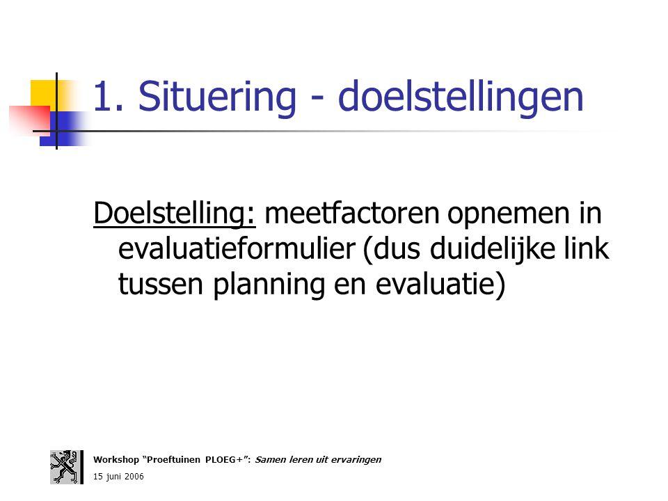 1. Situering - doelstellingen