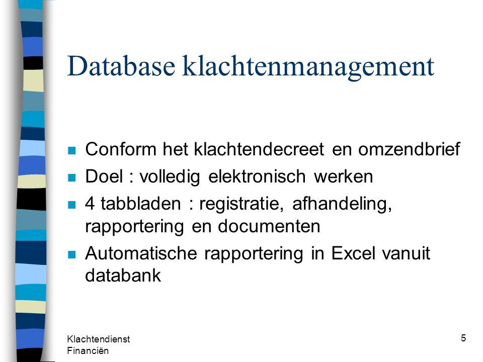 Database klachtenmanagement