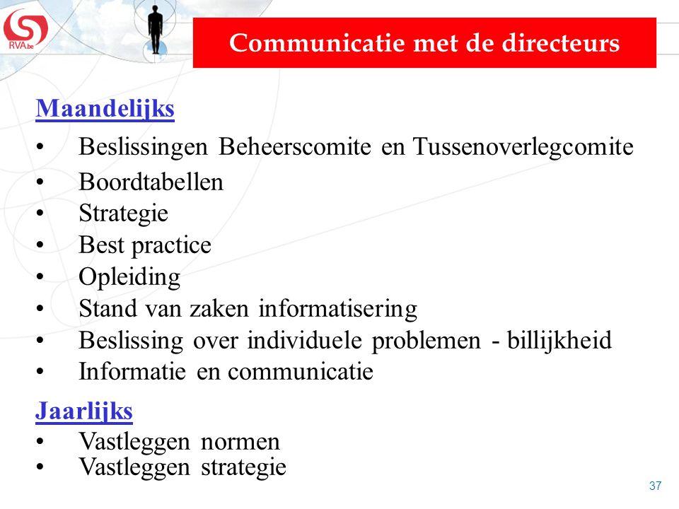 Communicatie met de directeurs