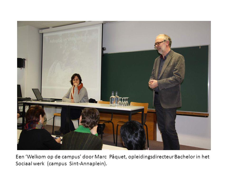 Een 'Welkom op de campus' door Marc Pâquet, opleidingsdirecteur Bachelor in het Sociaal werk (campus Sint-Annaplein).