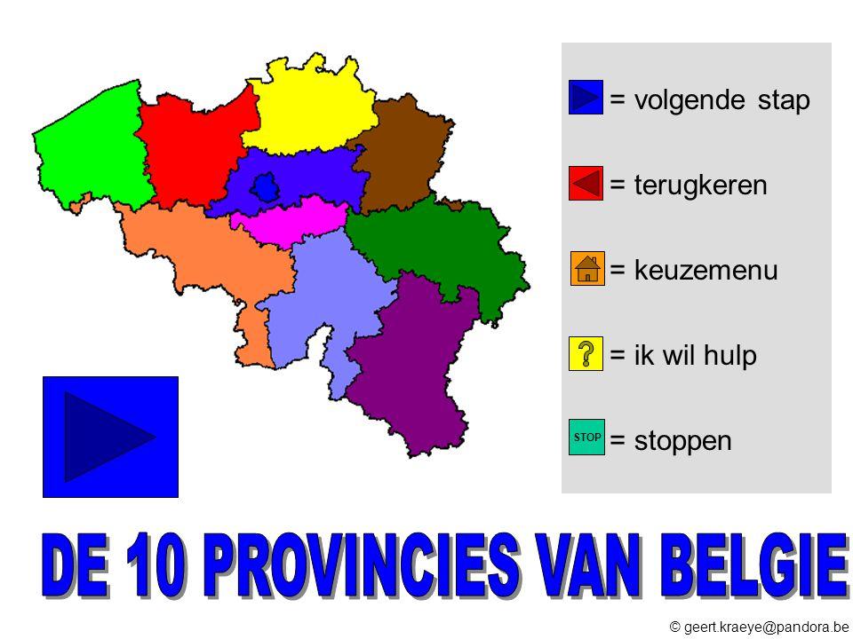 DE 10 PROVINCIES VAN BELGIE