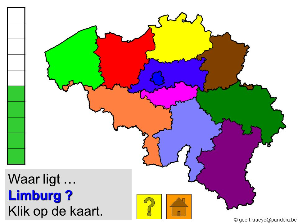 Waar ligt … Limburg Klik op de kaart.