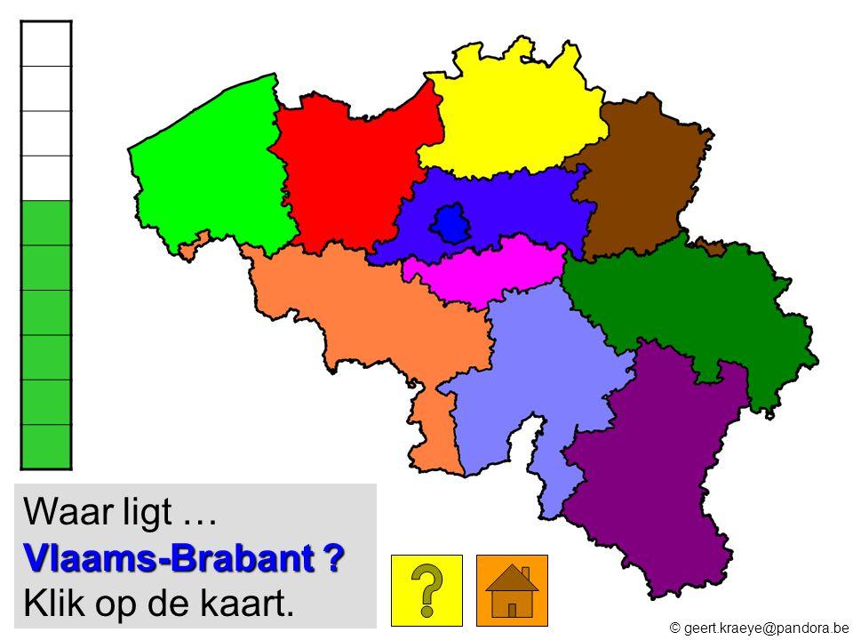 Waar ligt … Vlaams-Brabant Klik op de kaart.