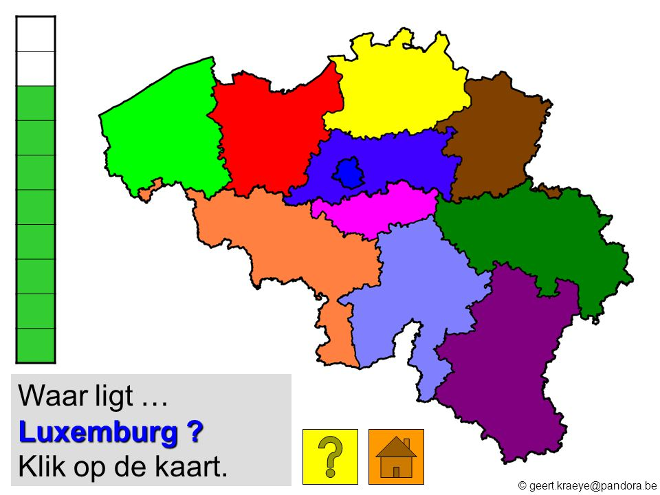Waar ligt … Luxemburg Klik op de kaart.