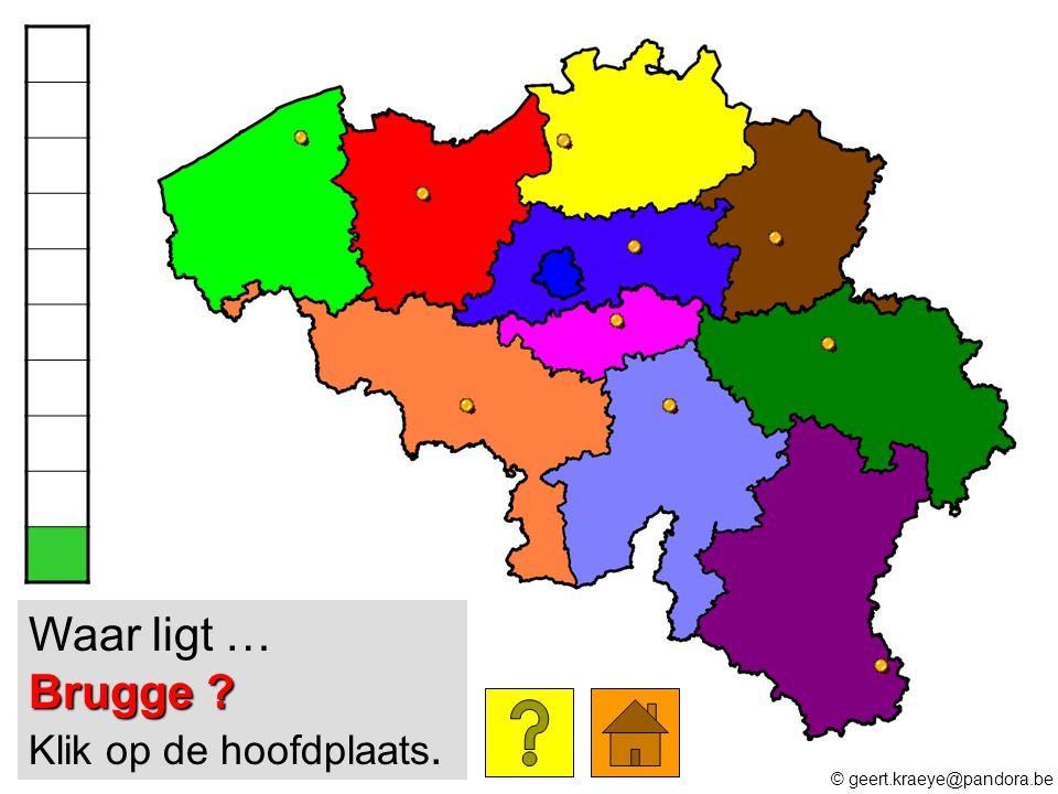 Waar ligt … Brugge Klik op de hoofdplaats.