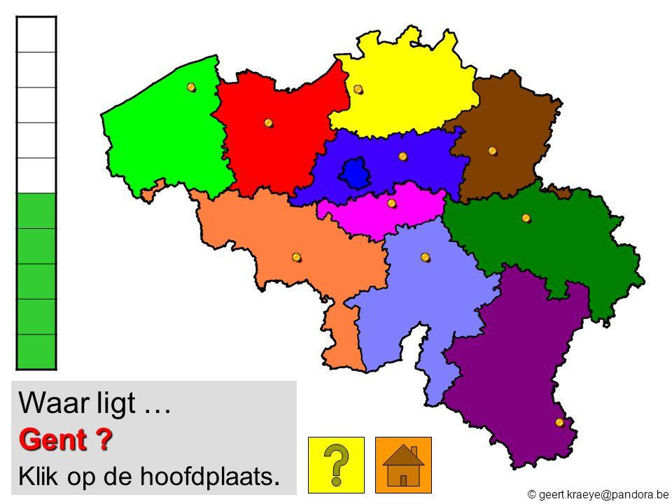 Waar ligt … Gent Klik op de hoofdplaats.