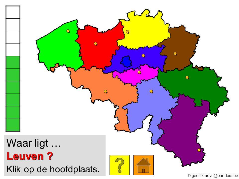 Waar ligt … Leuven Klik op de hoofdplaats.