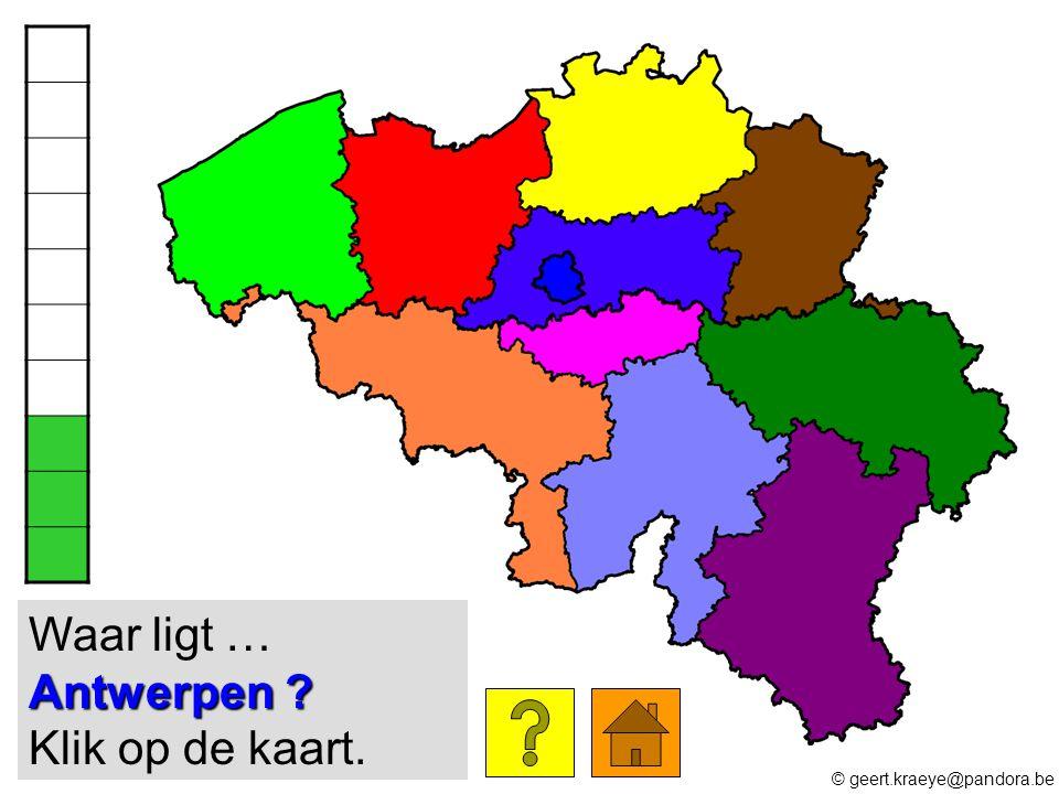 Waar ligt … Antwerpen Klik op de kaart.