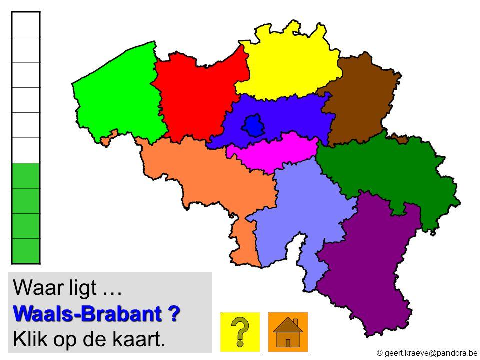 Waar ligt … Waals-Brabant Klik op de kaart.