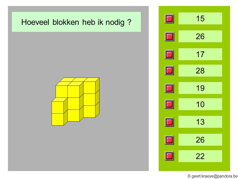 Hoeveel blokken heb ik nodig