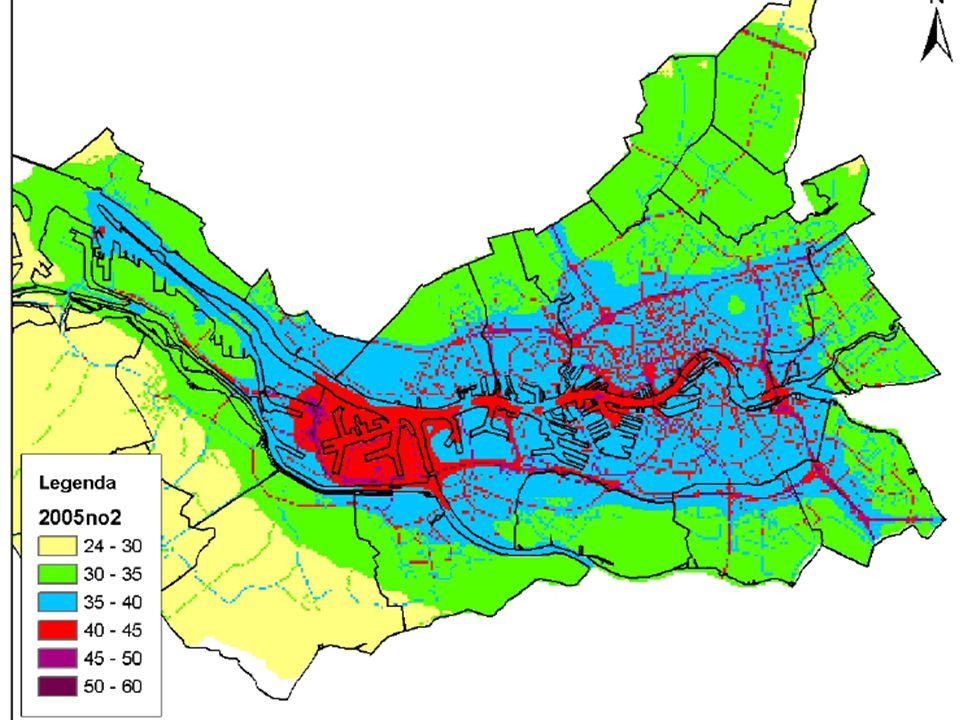 Details van stikstofdioxide niveaus in de Rotterdamse haven