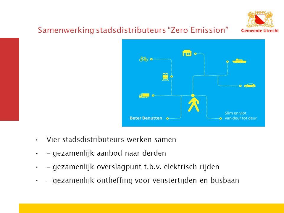 Samenwerking stadsdistributeurs Zero Emission