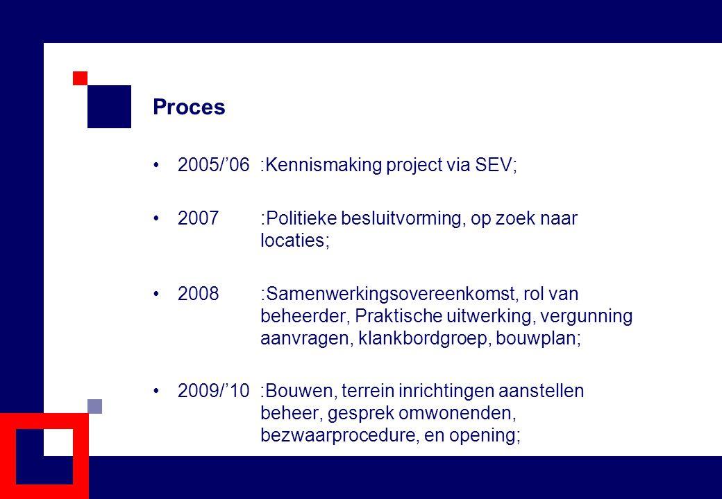 Proces 2005/'06 :Kennismaking project via SEV;