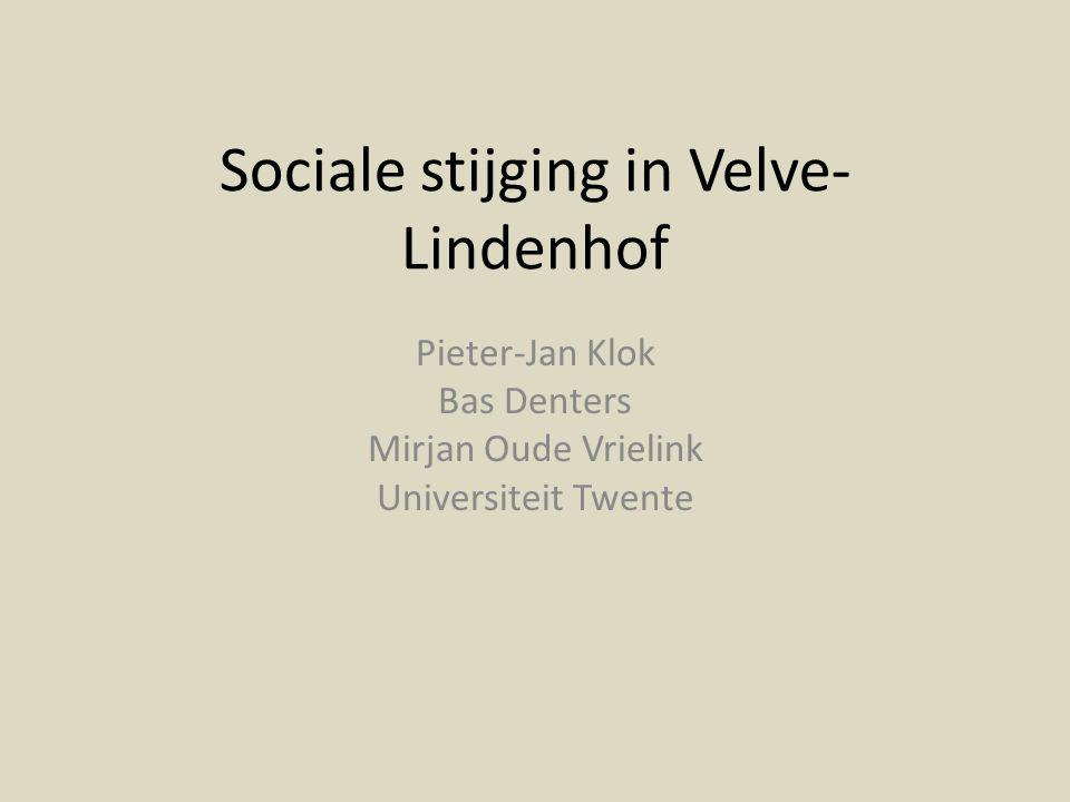 Sociale stijging in Velve-Lindenhof