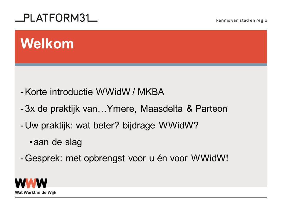 Welkom Korte introductie WWidW / MKBA