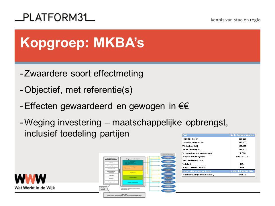 Kopgroep: MKBA's Zwaardere soort effectmeting