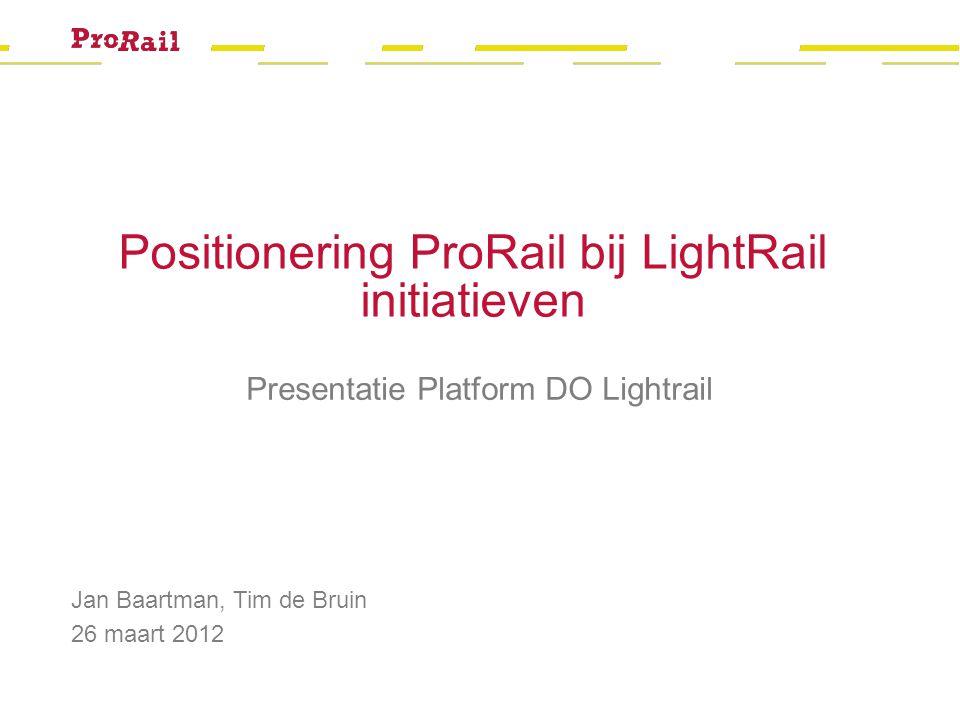 Positionering ProRail bij LightRail initiatieven