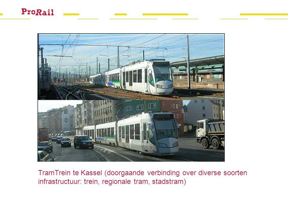TramTrein te Kassel (doorgaande verbinding over diverse soorten