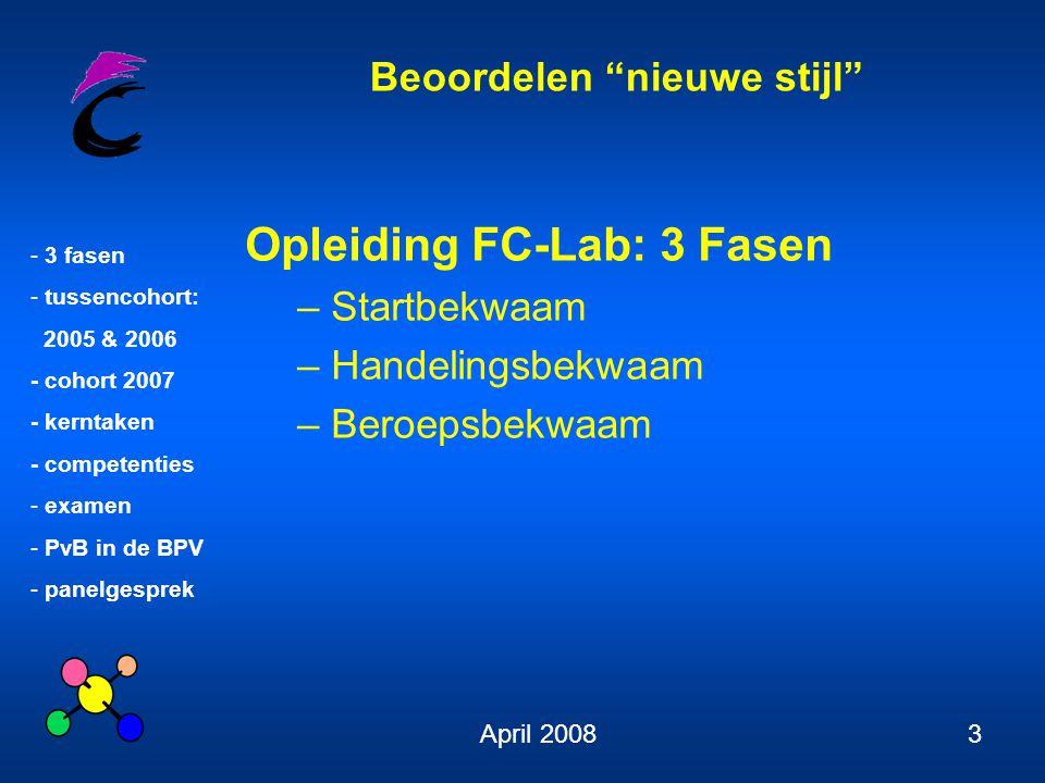 Opleiding FC-Lab: 3 Fasen