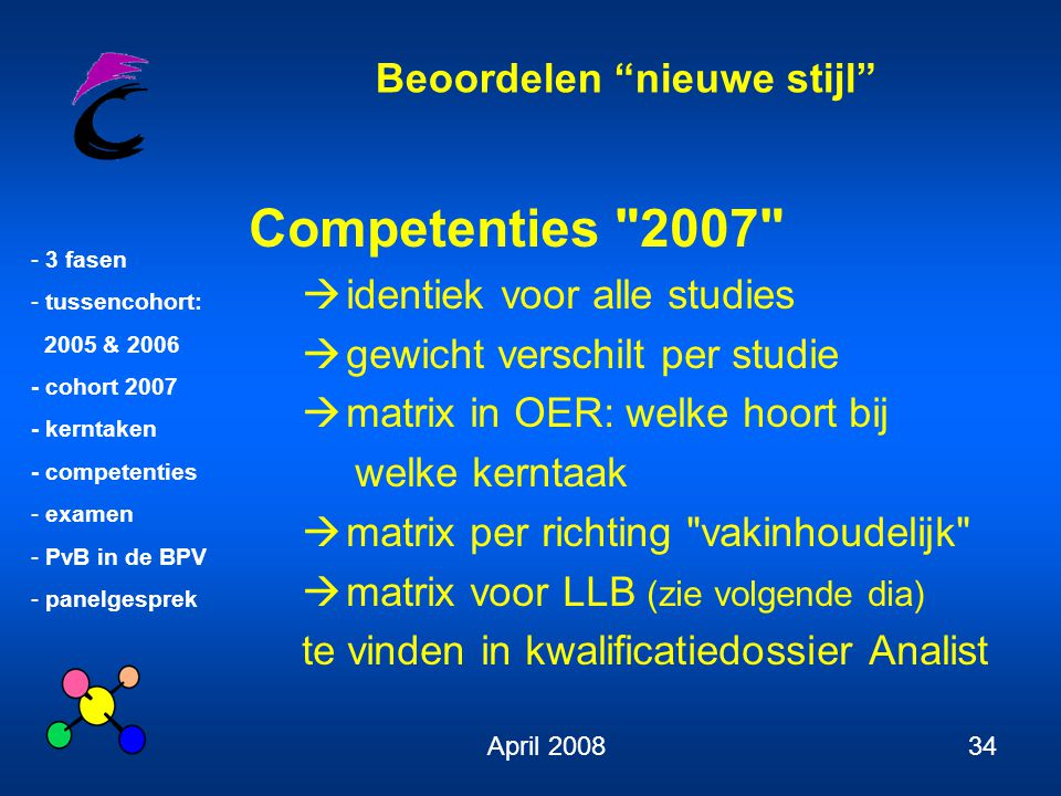 Competenties 2007 identiek voor alle studies