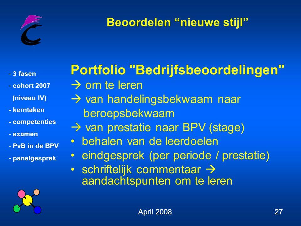 Portfolio Bedrijfsbeoordelingen
