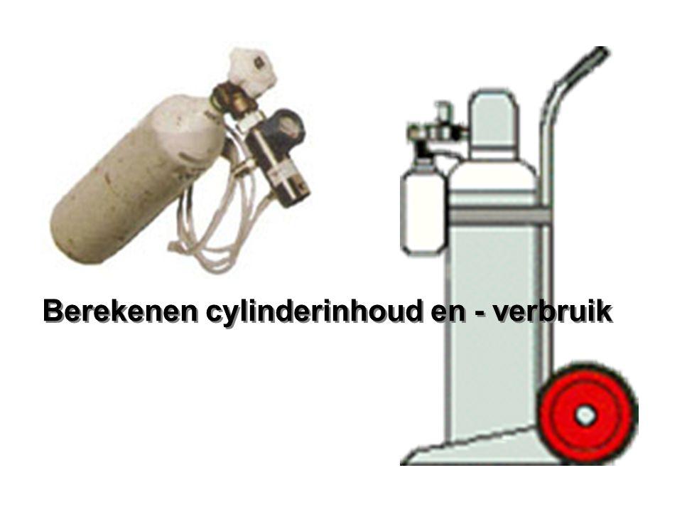 Berekenen cylinderinhoud en - verbruik