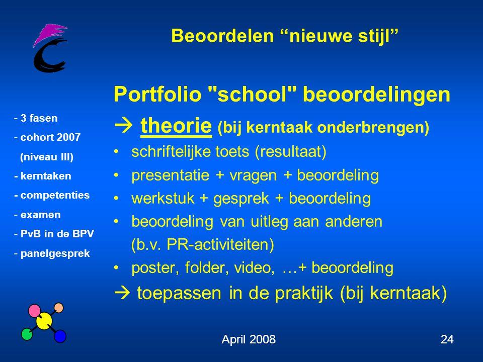 Portfolio school beoordelingen  theorie (bij kerntaak onderbrengen)