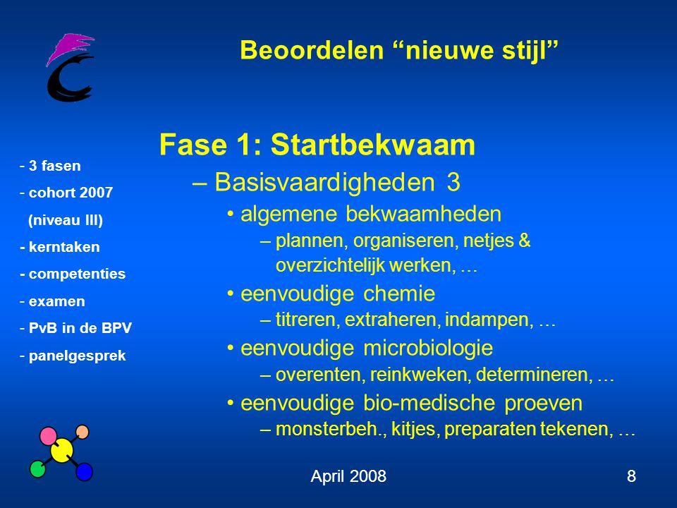 Fase 1: Startbekwaam Basisvaardigheden 3 algemene bekwaamheden