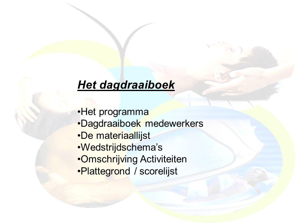 Het dagdraaiboek Het programma Dagdraaiboek medewerkers