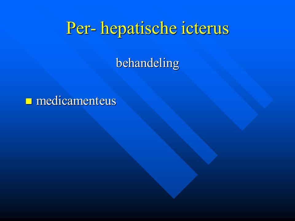 Per- hepatische icterus