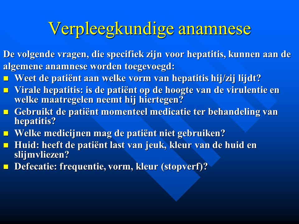 Verpleegkundige anamnese