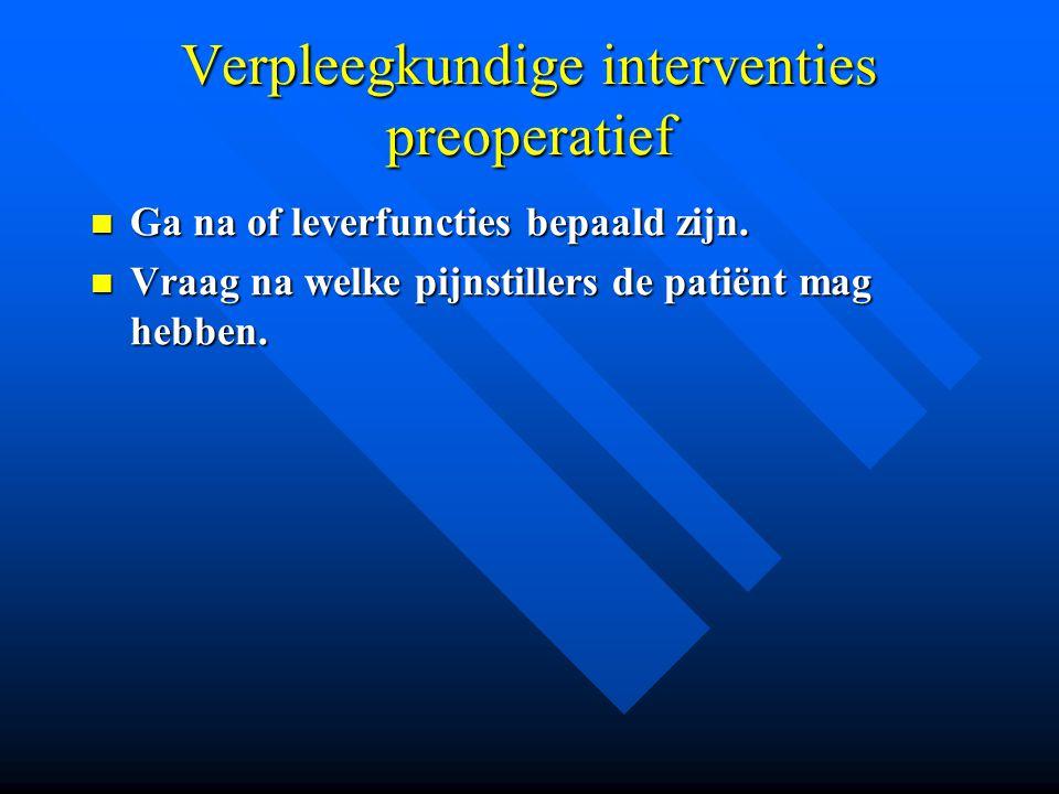 Verpleegkundige interventies preoperatief