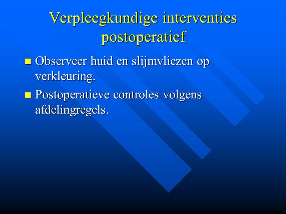 Verpleegkundige interventies postoperatief