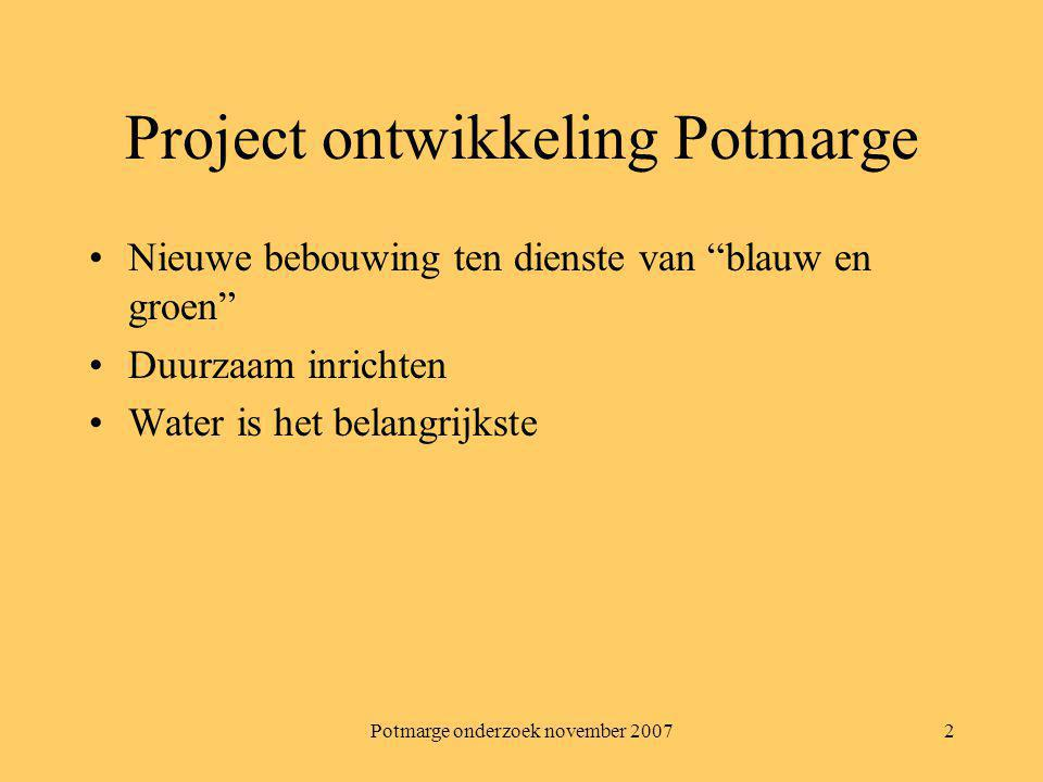 Project ontwikkeling Potmarge