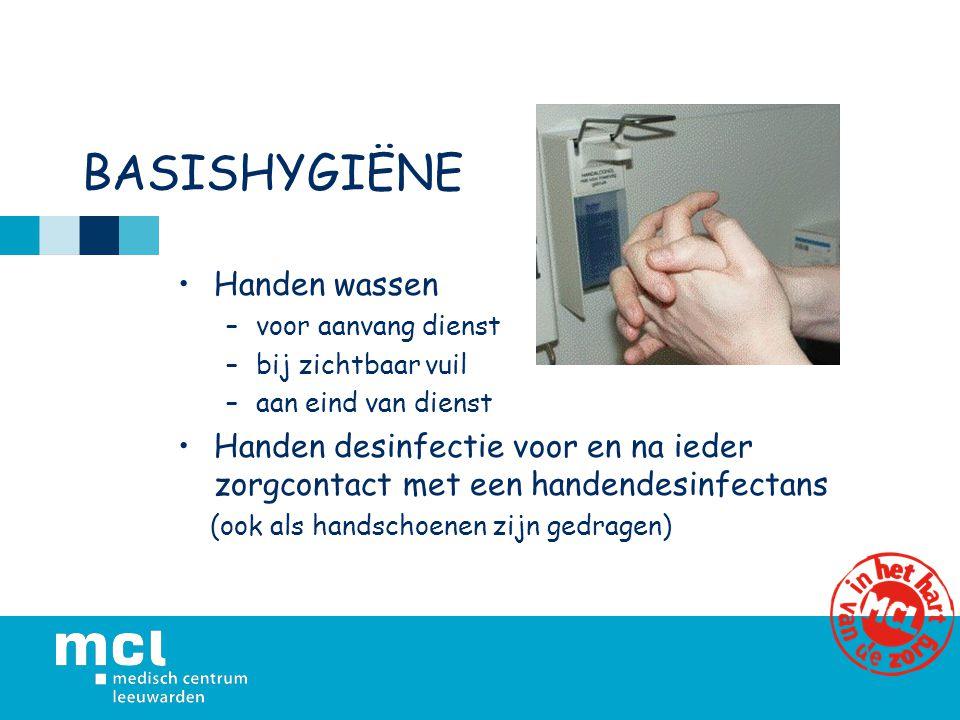 BASISHYGIËNE Handen wassen