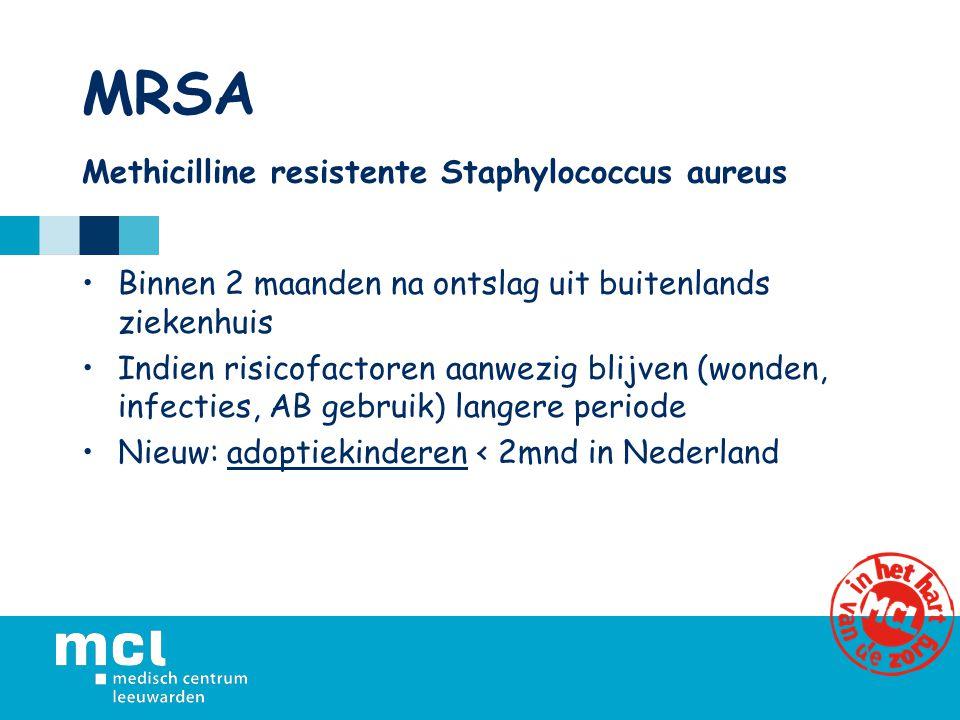 MRSA Methicilline resistente Staphylococcus aureus
