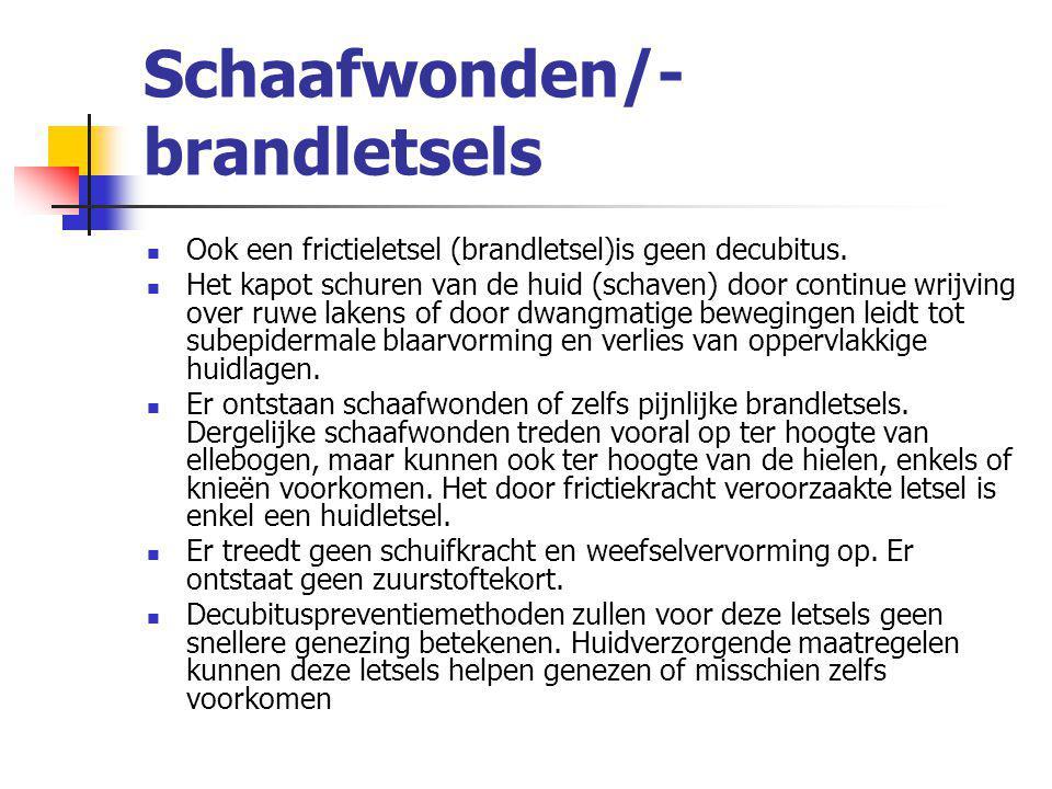 Schaafwonden/-brandletsels