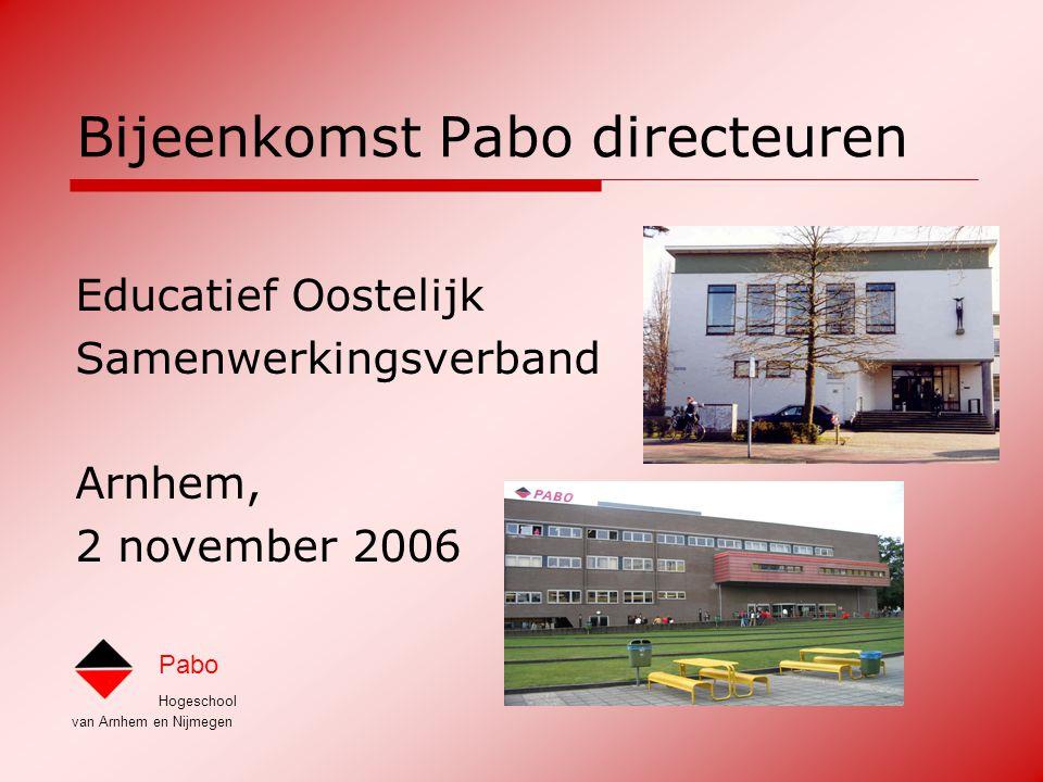 Bijeenkomst Pabo directeuren