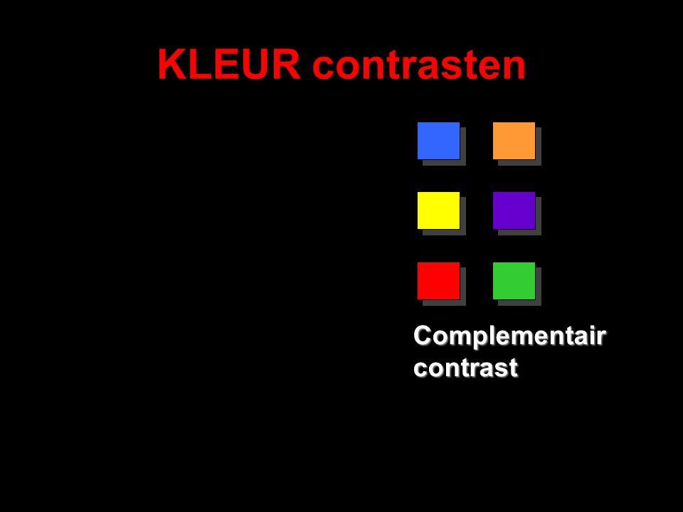 KLEUR contrasten Complementair contrast