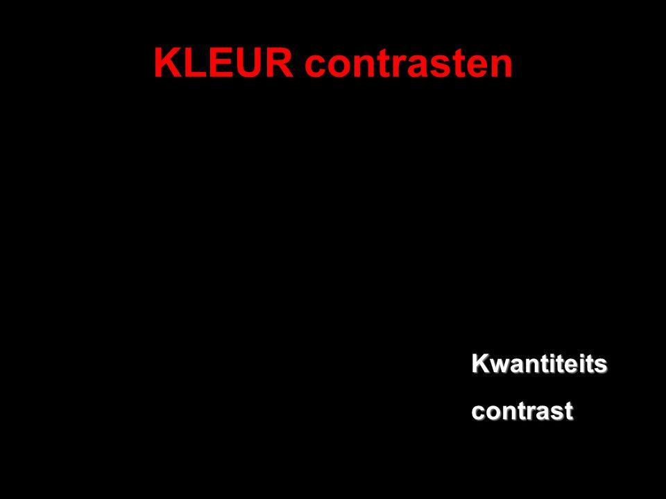 KLEUR contrasten Kwantiteits contrast