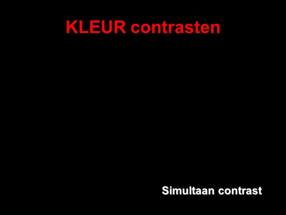 KLEUR contrasten Simultaan contrast