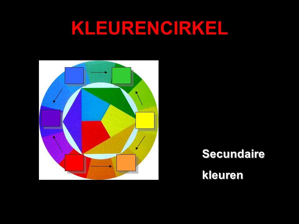 KLEURENCIRKEL Secundaire kleuren