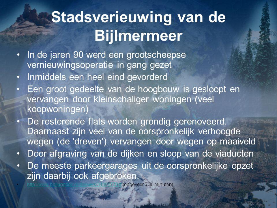 Stadsverieuwing van de Bijlmermeer